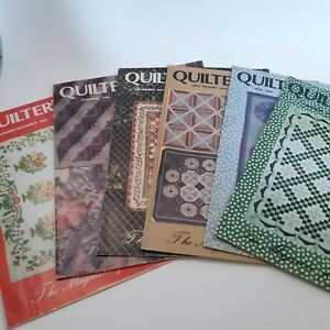 1979 Quilters Newsletter Magazine 6 issues Mar May July/Aug Sept Oct Nov/Dec VTG