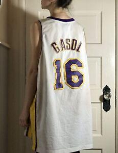 Details about Los Angles Lakers Pau Gasol Vintage Jersey Adidas NBA #16 Stitched Size XL Vtg