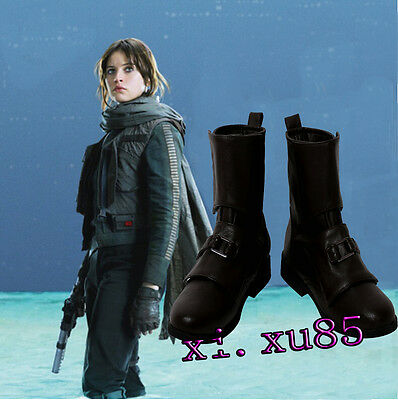 Rogue One A Star Wars Story Jyn Erso and Cassian Andor Boots Cosplay Shoe Women