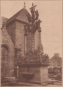 G2291-France-Le-calvaire-de-Saint-Thegonnec-Stampa-d-039-epoca-1930-old-print