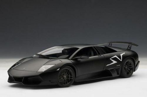 1 18 Autoart Lamborghini Murcielago Lp670-4sv 2009 negro con Negras Montar