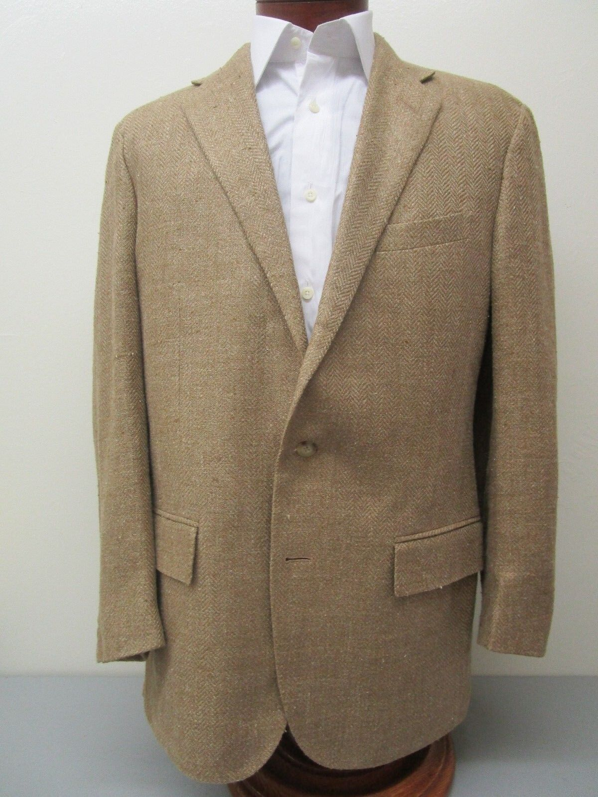Polo Ralph Lauren Made in  by Coreliani Linen & Silk Slub Blazer Größe 42 R