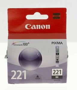 GENUINE Canon Pixma 221BK Black Ink New in Sealed Box Japan