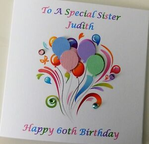 Image Is Loading Sister 60th Birthday Card Personalised Any Age Daughter