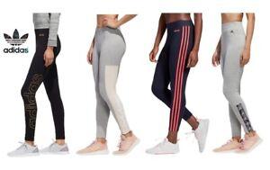 Leggings donna ragazza Adidas sport sportivi cotone fitness yoga palestra corsa