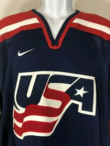 USA-Hockey-Team-Nike-Jersey-Blue-Red-White-Size-Medium