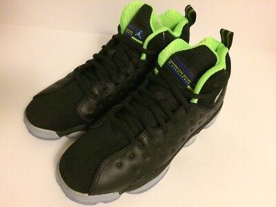Black//Electric Green Sz 4-7 NIB 861435-012 Nike Jordan Jumpman Team II PREM GS
