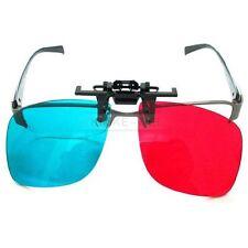 5 Stück Rot Blau 3D Clip-On Brille Brillen Gläser Anaglyph Glasses Neu