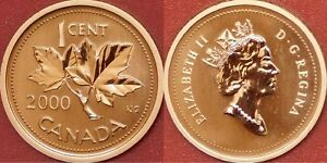 Specimen-2000-Canada-1-Cent-From-Mint-039-s-Set