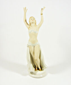 WALLENDORF-GLAMOUR-LADY-DIVA-POSING-10-034-HANDPAINTED-PORCELAIN-FIGURINE-2