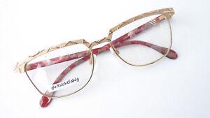 17 Augenoptik Brillenfassungen Brille Hochwertiges Markengestell Damen Silhouette 6155 Gold Rot Grösse L 55