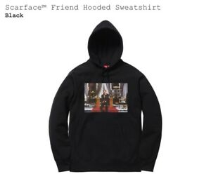 promo code 1c1ce ec4a6 Image is loading Supreme-Scarface-Friend-Hooded-Sweatshirt-Medium-Black