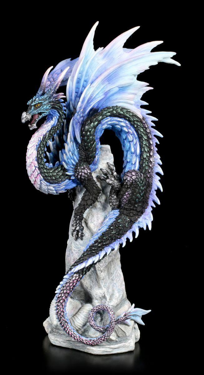 Dragones FIGURA DE ROCA - ZAFIRO Sentinel - Andrew Bill Fantasía Estatua