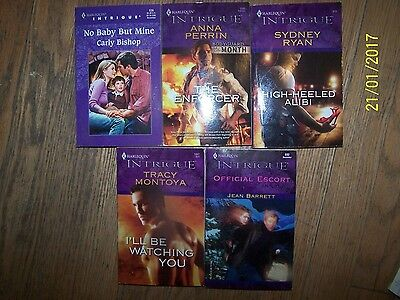 Lot 5 Harlequin Intrigue Soft Books By Tracy Montana,Jean Barrett,Sydney Ryan, A