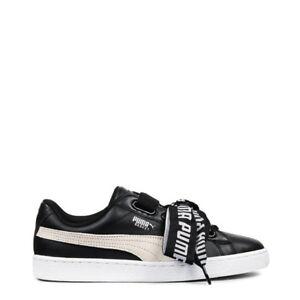 Détails sur Chaussures Puma Femme Basketball _ Heart _ DEW 364082 01 Noir Cuir Original Neuf