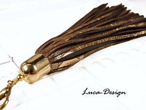 Lederquaste g Windhundhalsba<wbr/>nd Quaste Leder Tassel Troddel Bommel leather