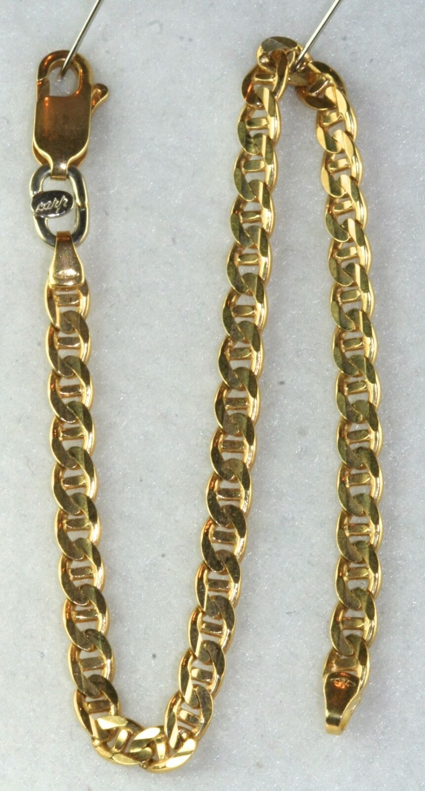 ITALY 18K gold MENS FANCY NAUTICAL LINK BRACELET 8.25 INCH 10.8 GRAMS