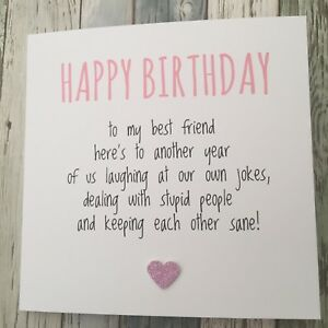 Wonderful Image Is Loading FUNNY BEST FRIEND BIRTHDAY CARD BESTIE HUMOUR FUN