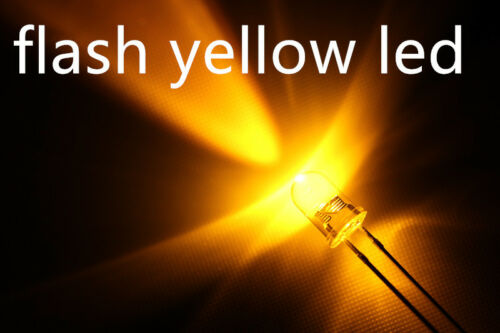 ogeled LED automaticamente LAMPEGGIANTE LED GIALLO 100x a0705 Flash 3mm Yellow LED
