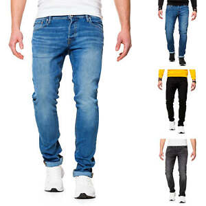 Jack-amp-Jones-Hommes-Jeans-STRETCHJEANS-pantalon-court-Slim-Fit-Straight-Leg-Pantalon