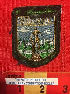 Vtg-Adelaide-Australia-Souvenir-Travel-Patch-ROUGH-SHAPE-Australian-5OVV