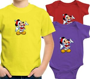 Toddler-Kids-Tee-T-Shirt-Infant-Baby-Bodysuit-Print-Christmas-Mickey-Mouse-Happy