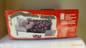 Telco-Animated-Motionettes-Sleeping-Mrs-Santa-1994-Christmas-Collectible-Tested