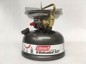 Coleman-Unleaded-Model-533-700E-Sportster-Stove-w-Carry-Case-Grey-NEW-IN-BOX