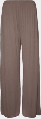 New Plus Size Women/'s Plain Palazzo Wide Leg Flared Ladies Trousers Pants 8-26