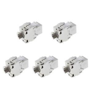 5pcs-Cat6-Rj45-Ftp-Type-Sans-Outil-En-Alliage-De-Zinc-Module-De-Reseau