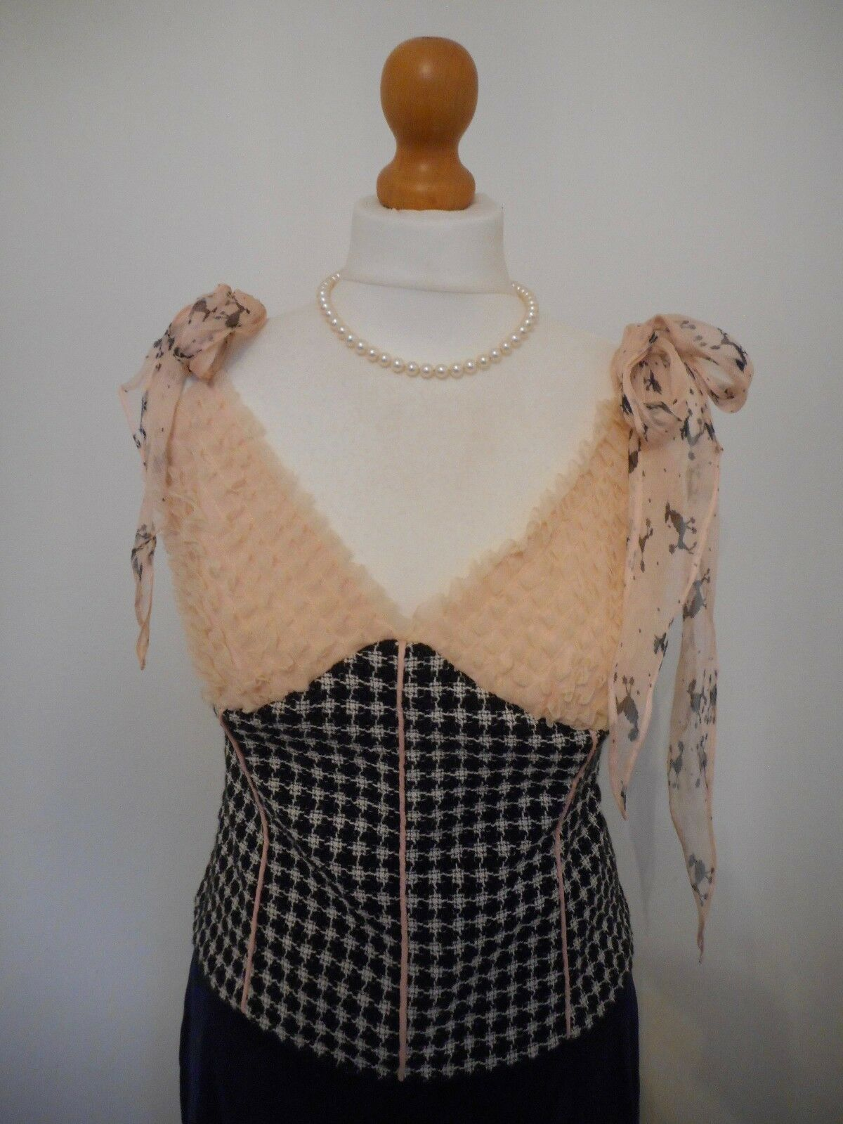 Ronit Zilkha Net A Porter bluee Pink Tank Top Vest Top Strappy Cami Basque UK10