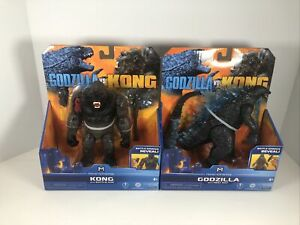 Godzilla-vs-Kong-Monsterverse-Battle-Damage-2-Figures-Heat-Ray-amp-Battle-Axe-NEW