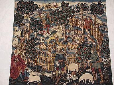 Alter Gobelin Wandteppich Marke Aubusson Manufaktur Robert Four / Frankreich