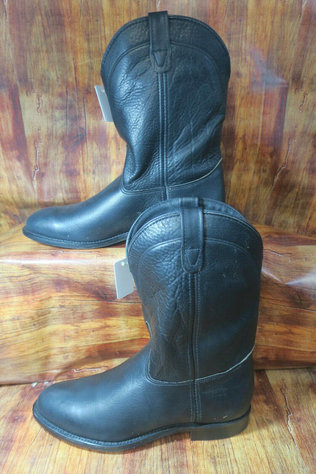 Double H Steel Toe Bottes de cow-boy Ropers Taille 8 2E Noir DH3550  1347
