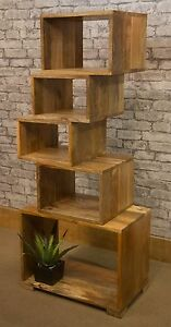 Image Is Loading Mantis 5 Cubed Bookcase Solid Light Mango Wood