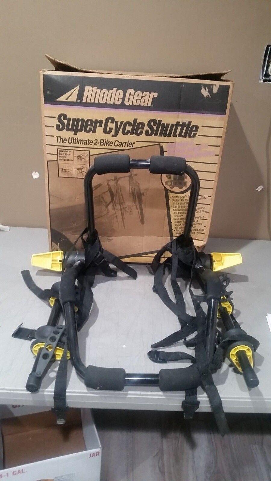 Rhode Gear 2-Bike Carrier Super Cycle Shuttle Trunk  Mount w  Manual FREE SHIP  brand outlet