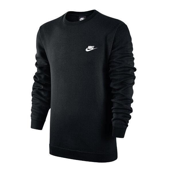 Nike Mens Club Crew Fleece Sweatshirts 804340 Black 010 XL