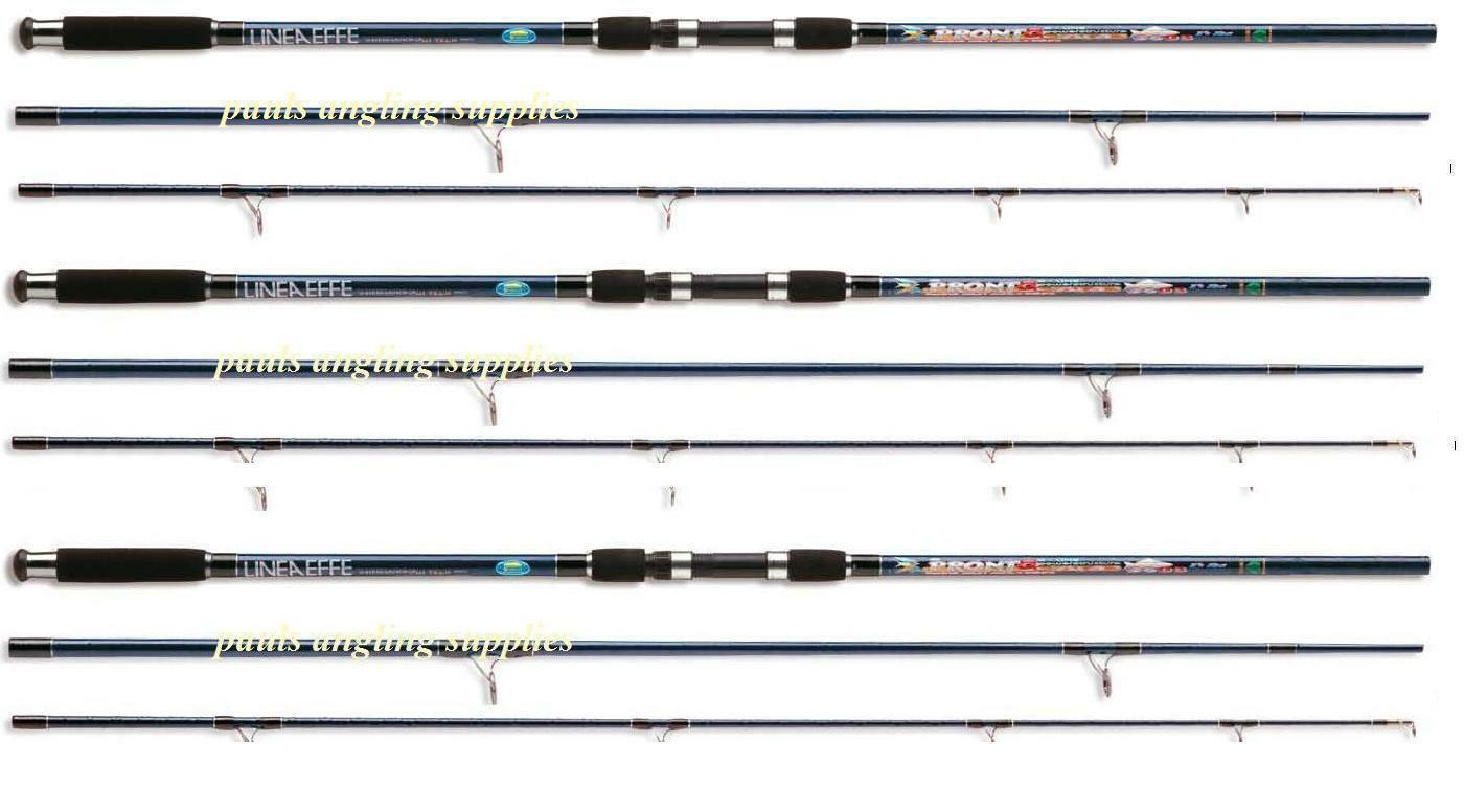 3 x Carp Fishing 3 Piece Carp Fishing Rods 3lb T c