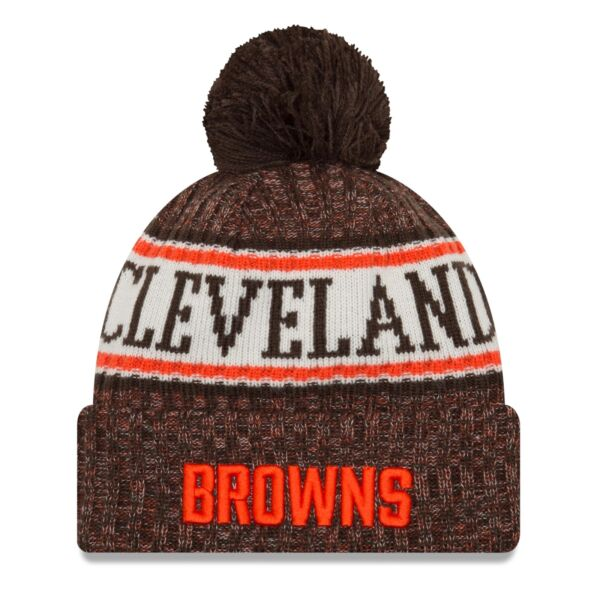 6503aac82 Cleveland Browns 2018 Era Sideline Knit Hat for sale online