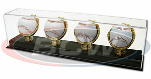BCW-Supplies-Deluxe-Acrylic-Four-Quad-Gold-Glove-Baseball-Display-New-1-AD13-4