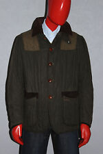 Mens Barbour x ToKiTo Sporting Quilt Wax Jacket Green Olive Size Large