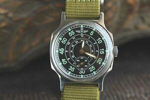 Wrist-watch-Pobeda-Komandirskie-Green-Mechanical-USSR-For-Men