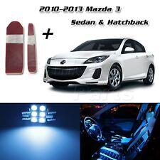 6 Ice Blue Interior LED Light Package for Mazda 3 2010-2013 Sedan Hatchback+Tool