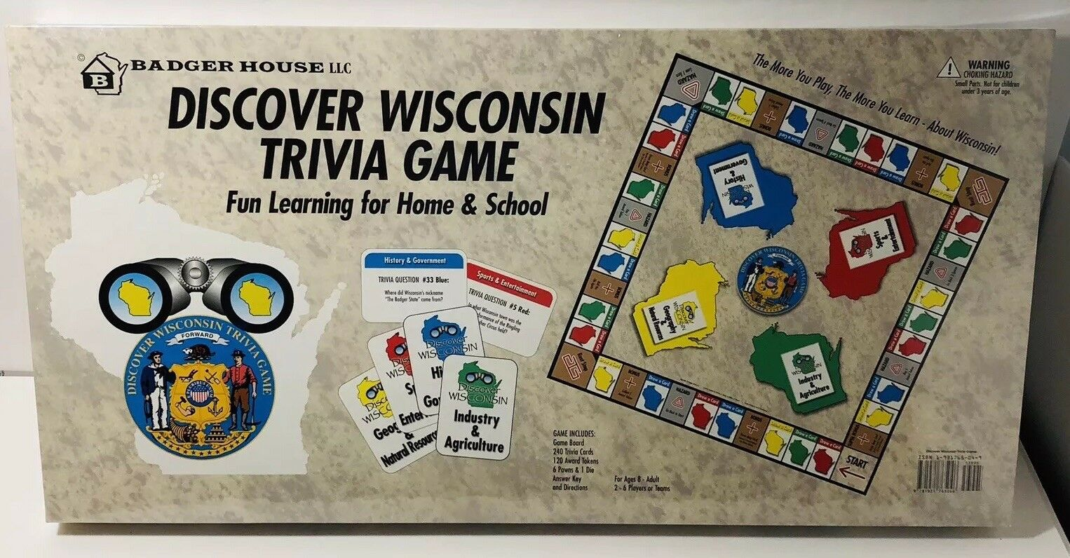 Discover Wisconsin Board Game Badger House Monopoly