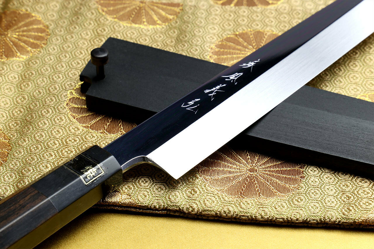 Yoshihiro Mizu Honyaki Aoko Blau Blau Blau high Carbon Steel Mirror Finished Yanagi 10.5  2e88dd