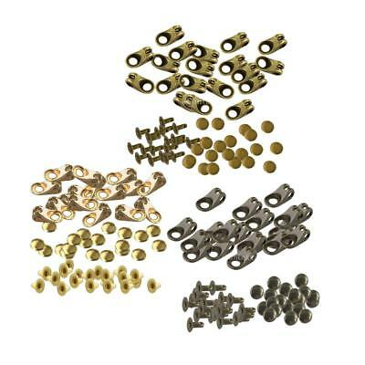 20 Sets Metal Boot Lace Hooks Fittings Rivets Hiking Shoes Buckles
