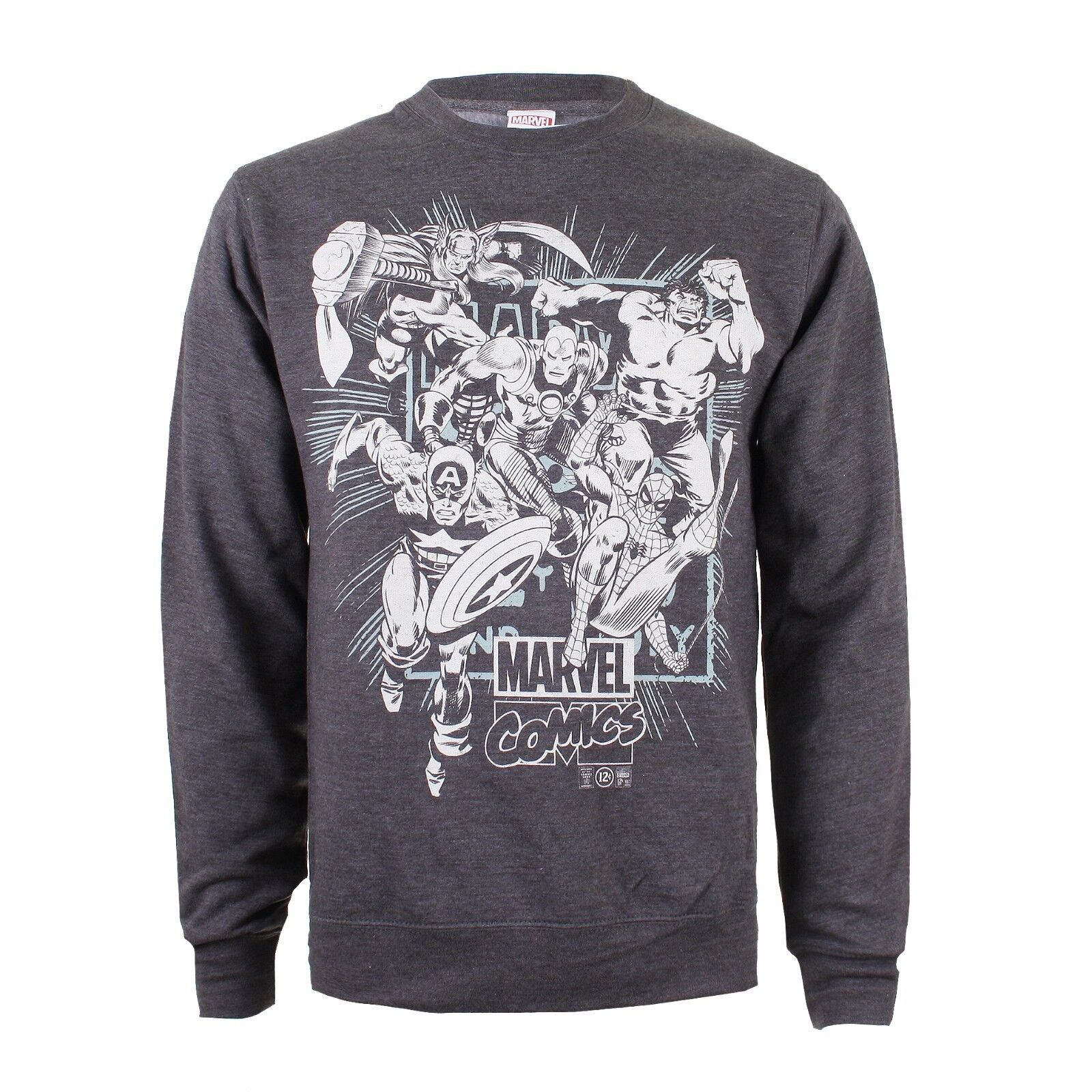 Details about Mens Marvel Avengers Band of Heroes Crew Neck Sweat Jumper Sizes S XXL