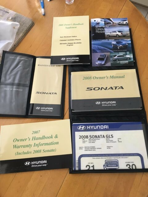 2008 Hyundai Sonata Owners Manual