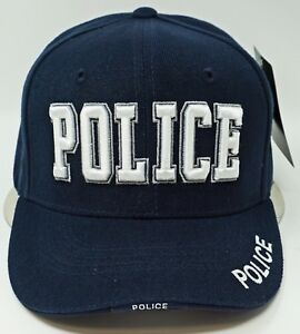 Police Ball Cap Hat Law Enforcement 3DEmbroidered Adjustable Hats Caps Navy Blue