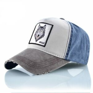 afc5b55baa00 Image is loading Unisex-Baseball-Cap-Men-Women-Fashion-Animals-Embroidery-